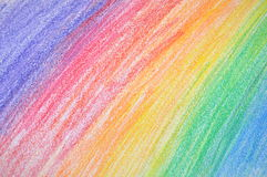 Colores del creyón Fotos de archivo