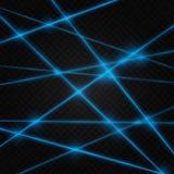 Colores del extracto de rayo láser Transparente se aísla en un fondo negro libre illustration