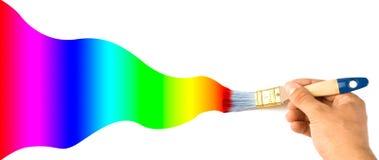 Colores del gradiente de la pintura fotografía de archivo