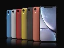 Colores del iPhone XR de Apple, posición vertical, alineada libre illustration