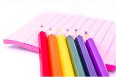 Colores del lápiz Fotos de archivo