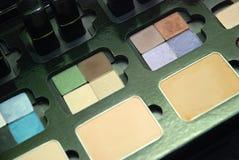 Colores del maquillaje foto de archivo
