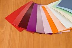 Colores del material Foto de archivo