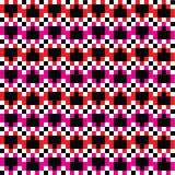 Colores del modelo 4 de los pixeles del corazón Stock de ilustración