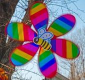 Colores del molino de viento Imagen de archivo libre de regalías