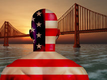 Colores del nacional del Golden Gate libre illustration