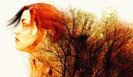 Colores del otoño de la madre naturaleza stock de ilustración