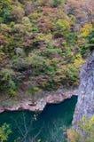 Colores del otoño del valle de Dakigaeri-Keikoku Imagen de archivo