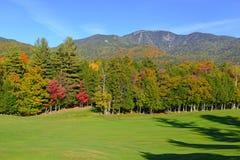 Colores del otoño - la caída se va en el Adirondacks, Nueva York fotografía de archivo