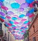 Colores del paraguas Imagen de archivo libre de regalías