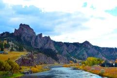 Colores del río Missouri fotografía de archivo