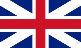 Colores del ` s del rey de la bandera de Gran Bretaña Enfermedad civil y del estado de la bandera 3D ilustración del vector