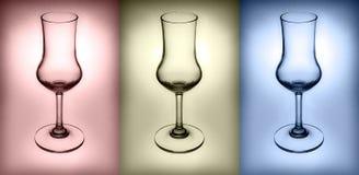 3 colores del vidrio, rojo, azul, amarillo Imágenes de archivo libres de regalías