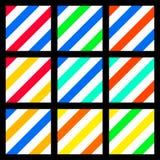 Colores dulces de la moda del fondo inconsútil colorido Foto de archivo libre de regalías