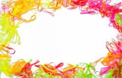 Colores elásticos del pelo foto de archivo