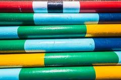 Colores en colores pastel ecuestres de postes Foto de archivo