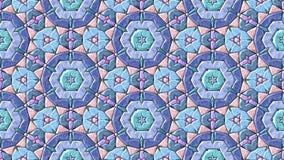 colores en colores pastel video cambiantes animados abstractos del lazo inconsútil del fondo del mosaico del caleidoscopio