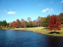 Colores en el lago en la caída Imagen de archivo libre de regalías