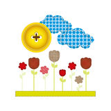 colores and figures flowers plants icon Stock Photography