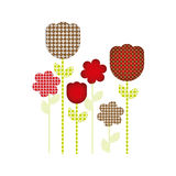 colores and figures flowers plants icon Royalty Free Stock Photography