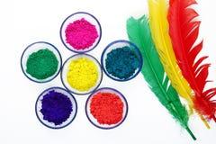 Colores hermosos de Gulal Fotografía de archivo libre de regalías