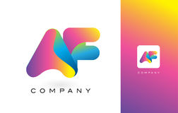 Colores hermosos del AF Logo Letter With Rainbow Vibrant T colorido libre illustration