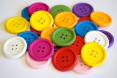 Colores intrépidos de los botones Fotografía de archivo