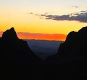 Colores a los colores Puesta del sol a la puesta del sol Imagen de archivo libre de regalías