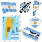 Colores nacionales de la Argentina Foto de archivo libre de regalías