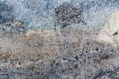 Colores negros y azules abstractos del granito Foto de archivo libre de regalías
