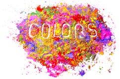 Colores orgánicos Imágenes de archivo libres de regalías