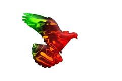 Colores portugueses de la bandera en la silueta de la paloma Fotos de archivo libres de regalías