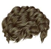Colores rubios de moda de los pelos rizados longitud media styl de la belleza Fotos de archivo