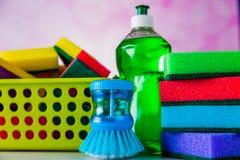 Colores saturados, concepto que se lava Imagen de archivo libre de regalías