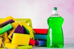 Colores saturados, concepto que se lava Foto de archivo libre de regalías