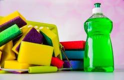 Colores saturados, concepto que se lava Fotos de archivo libres de regalías