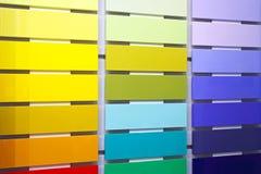 Colores Swatch fotos de archivo