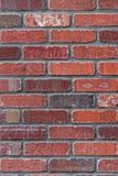 Colores variados de la pared de ladrillo roja hermosa de la albañilería Imagen de archivo libre de regalías