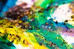 Colores vibrantes de la pintura colorida Imagen de archivo