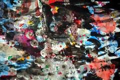 Colores vivos borrosos cerosos hipnóticos, contrastes, fondo creativo ceroso Fotografía de archivo