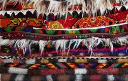 Colores vivos de la alfombra Imágenes de archivo libres de regalías