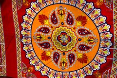 Colores vivos del diseño de la tela Imágenes de archivo libres de regalías