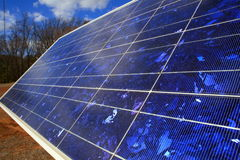 Colores vivos del panel solar Foto de archivo libre de regalías