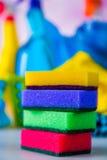 Colores vivos en concepto que se lava Imagen de archivo libre de regalías