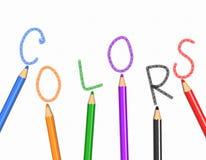 Colores y lápices Foto de archivo