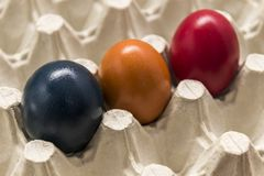 Colores y tradición, huevos de Pascua Imágenes de archivo libres de regalías