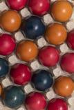 Colores y tradición, huevos de Pascua Imagen de archivo