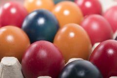Colores y tradición, huevos de Pascua Fotos de archivo