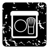 Colorete con el icono del cepillo, estilo del grunge Imagen de archivo