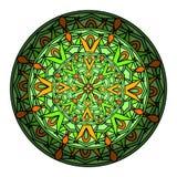 colorez l'élément décoratif de conception avec un modèle circulaire mandala illustration stock
